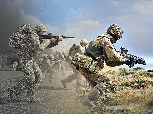 MESH seamlessly integrates live, virtual and constructive environments to enhance the realism and effectiveness of military training. Accurately capturing and relaying the positions of soldiers and assets in the field, the innovative system overlays simulated data feeds into exercising troops' vision.