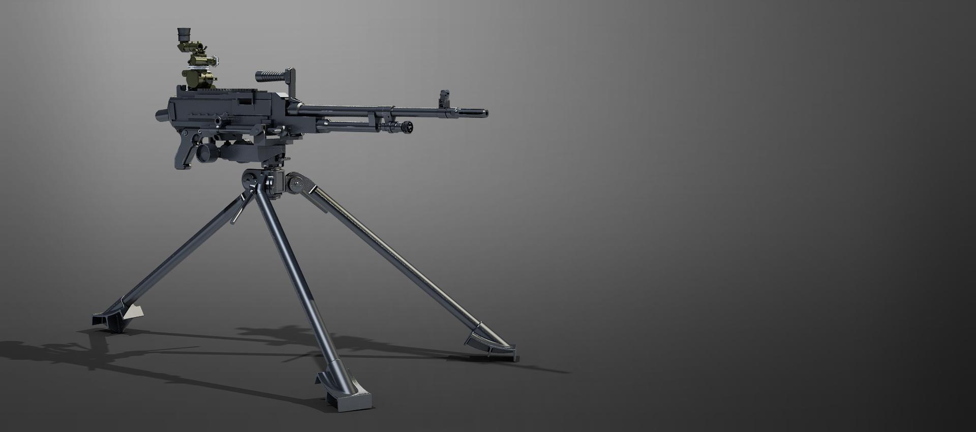 Gun on stand