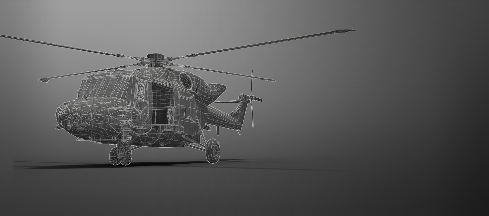 Lynx Helicopter in wireframe