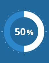 Pie Chart 50%
