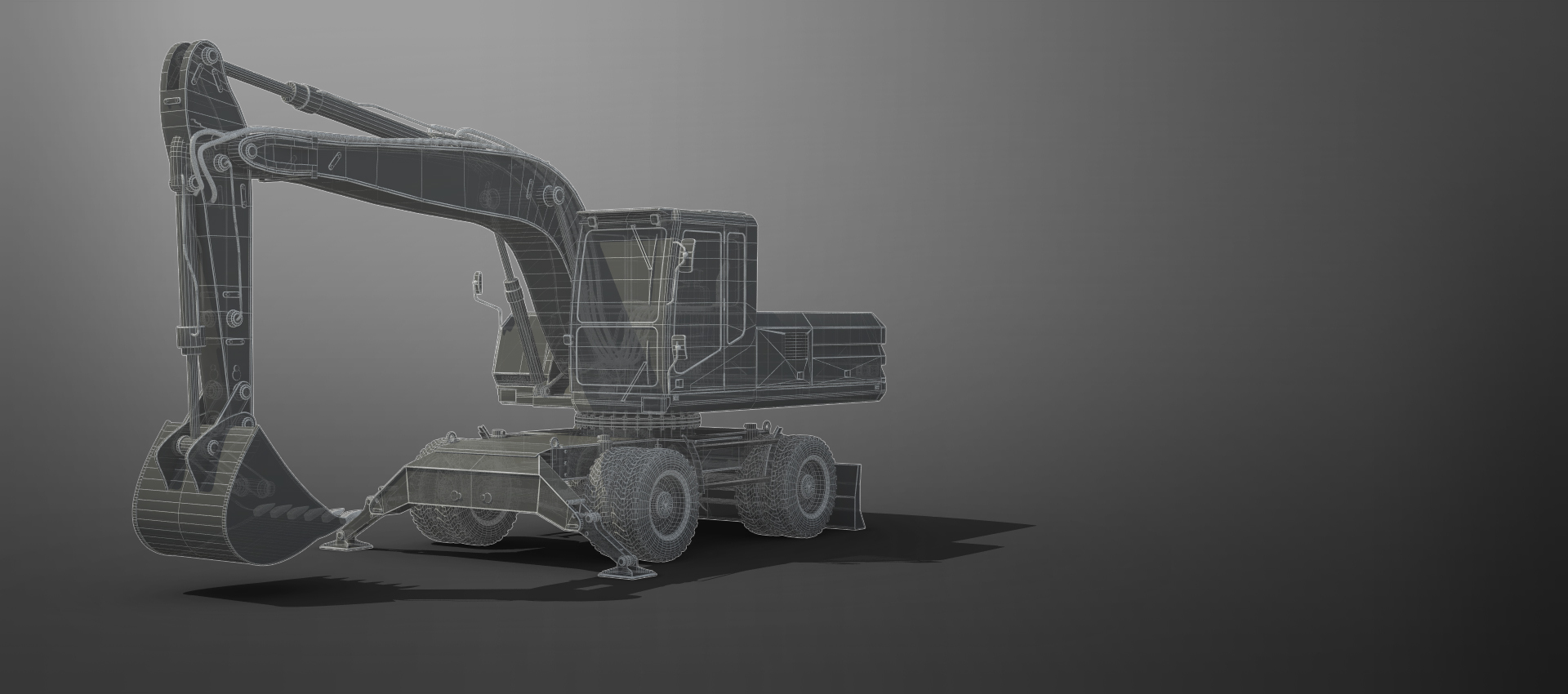 Digger in wireframe